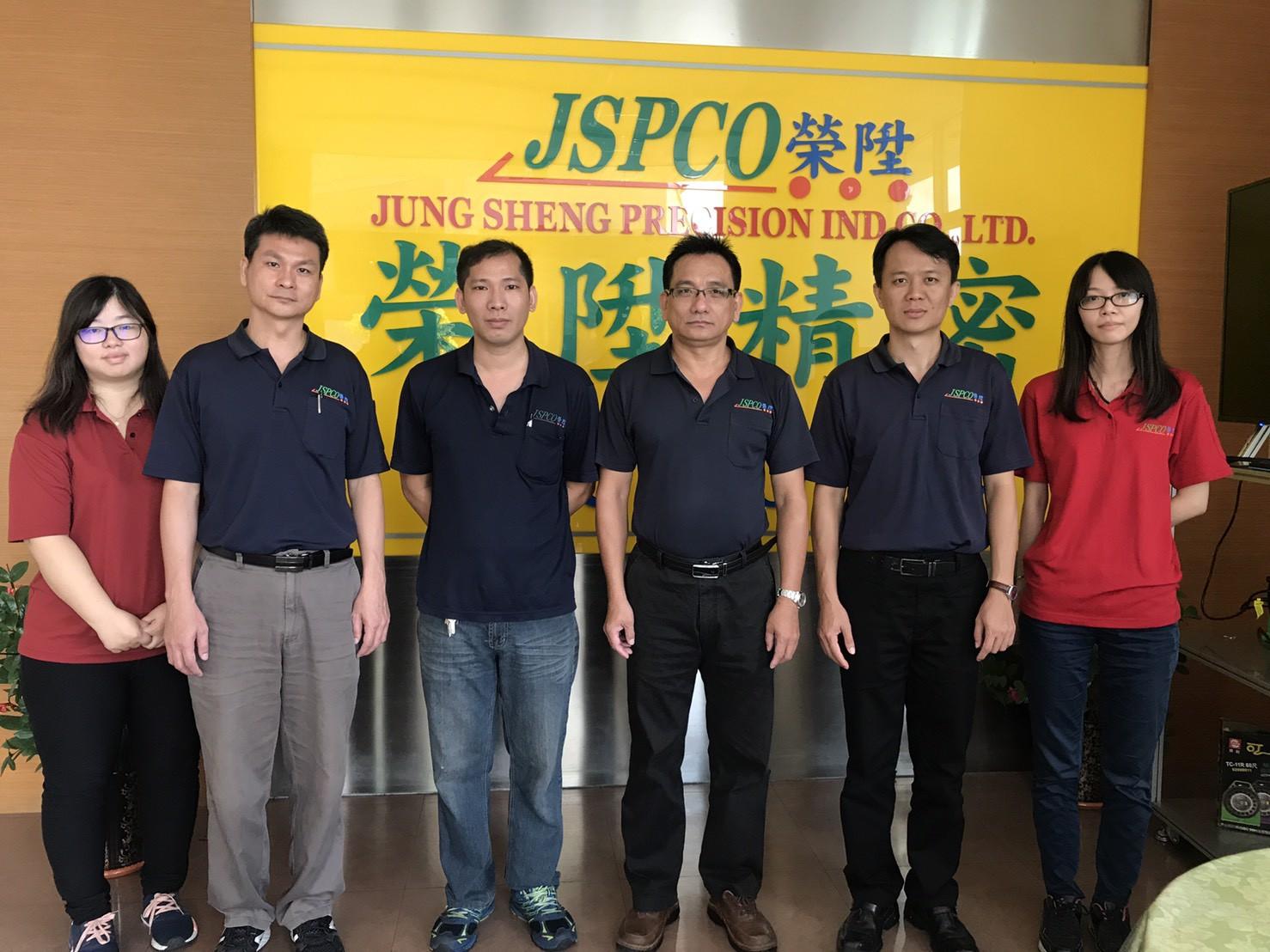 本公司總經理-蘇志霖先生(右三)及其研發團隊